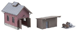 Faller HO Light Rlwy Engine Shed, LIST PRICE $34.99