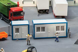 Faller HO Portable Modular Container Offices, LIST PRICE $26.99