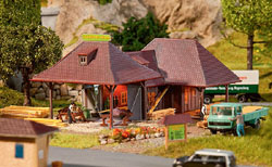 """Faller HO Woodworker's Shop Weathered Kit 6 7/8 x 4 3/4 x 2 3/4"""" 17, LIST PRICE $56.99"""