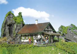 Faller HO Half-timbered chalet, LIST PRICE $25.99