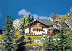 Faller HO Large mountain chalet, LIST PRICE $30.99