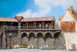 Faller HO Old-Town Wall Sections, LIST PRICE $30.99