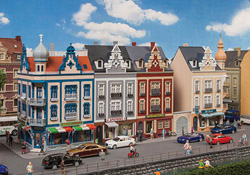 Faller HO Row Of Downtown Structurs, LIST PRICE $149.99