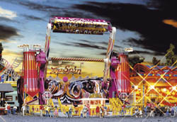 Faller HO Top Spin Midway Ride, LIST PRICE $189.99