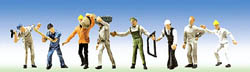 Faller HO Construction Workers 8/, LIST PRICE $13.99