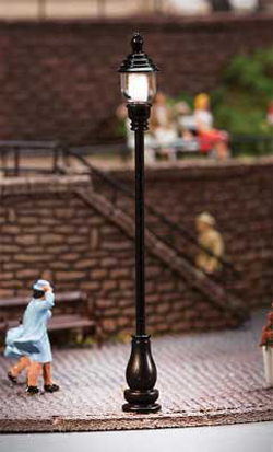 """Faller HO LED Park Light Adjustable height up to 2-1/2"""" p, DUE TBA, LIST PRICE $21.99"""