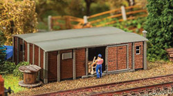 Faller HO Goods Wagons Shed, LIST PRICE $34.99