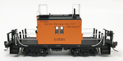 Fox Valley Models HO Transfer caboose #01731 Maroon Ltrng Early Body, LIST PRICE $65.95