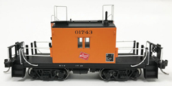 Fox Valley Models HO Transfer caboose #01743 Logo Black No's Early Body, DUE 11/5/2018, LIST PRICE $65.95