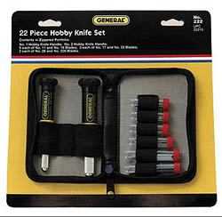General Hardware Manufacturing Co., Inc. Precision Knife/Blade Set, LIST PRICE $21.79
