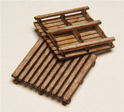 GCLaser HO Pallets Laser Cut Wood Kit pkg(24), LIST PRICE $18