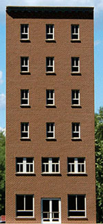 GCLaser HO 6 Story Office Background Building C w/Flat Brick Front K, LIST PRICE $16