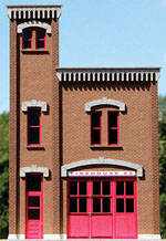 GCLaser HO Firehouse #3 Background Building Front Flat Precolored La, LIST PRICE $16
