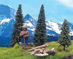 Grand Central Gems HO Smokey Bear w/3 Trees Assembled, LIST PRICE $9.99