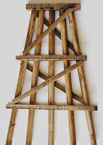 "Grand Central Gems HO Wood Trestle Bents-Assem-Medium, 5"" Tall (5), LIST PRICE $20"