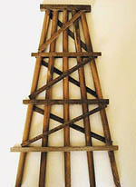 "Grand Central Gems HO Wood Trestle Bents-Assem-Large, 7"" Tall (5), LIST PRICE $20"