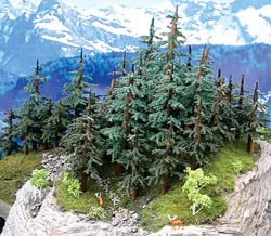"""Grand Central Gems Lodgepole Pine Trees-Small, 2-5"""" Tall (8), LIST PRICE $30"""