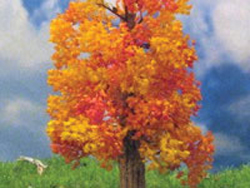 "Grand Central Gems Fall Maple Trees 3 4"" 7.6 10.2cm Tall pkg(3), LIST PRICE $20"