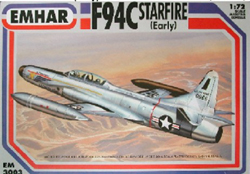 Emhar Model Co F94-C Starfire Usaf 1:72 Early, LIST PRICE $19.99