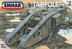 Emhar Model Co Mk.IV TADPOLE WW-I BRIT TANK72, LIST PRICE $19.99