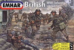 Emhar Model Co WW-I BRITISH INFANTRY 1:72 , LIST PRICE $11.99