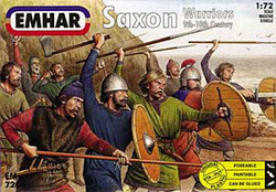 Emhar Model Co SAXONS WARRIORS 9th-10th 1:72 , LIST PRICE $11.99