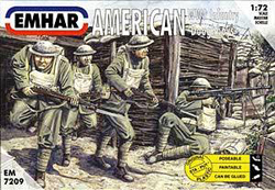 Emhar Model Co WW-I AMERICAN DOUGHBOYS 1:72 , LIST PRICE $11.99