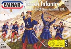 Emhar Model Co FRENCH INFANTRY 1856-71 1:72 , LIST PRICE $11.99