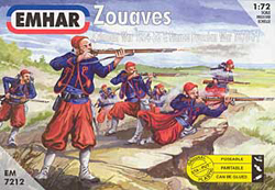 Emhar Model Co FRENCH ZOUAVES 1856-71 1:72 , LIST PRICE $11.99
