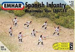 Emhar Model Co SPANISH INFANTRY 1807-14 1:72 , LIST PRICE $11.99