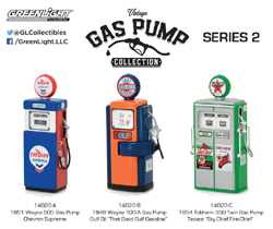 Greenlight Collectibles 1:18 Vintage Gas Pumps Series 2, LIST PRICE $9.99