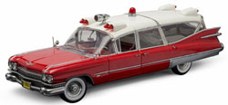 Greenlight Collectibles 1:18 1959 CADILLAC AMBULANCE R/W , DUE TBA, LIST PRICE $159.95