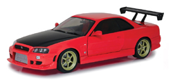 Greenlight Collectibles 1:18 1999 NEON GTR RED , DUE 12/30/2018, LIST PRICE $79.99
