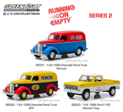Greenlight Collectibles 1:24 RUNNING ON EMPTY 3PK , DUE 1/30/2019, LIST PRICE $74.99