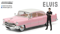 Greenlight Collectibles 1:43 1955 Cadillac Fltwd Ser 60 Pink Cadillac w/Elvis, LIST PRICE $25.99