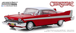 Greenlight Collectibles 1:43 CHRISTINE PLYM FURY , DUE 1/30/2019, LIST PRICE $19.99