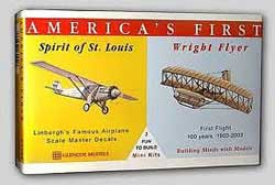 Glencoe Models WRIGHT FLYER & SPIRIT St LOUIS, LIST PRICE $7.98
