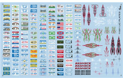 Gofer Racing Model Decals Licence Plate Decal 1:24, LIST PRICE $9.95