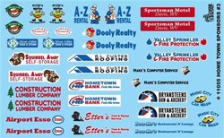 Gofer Racing Model Decals Home Town Sponsors Decal, LIST PRICE $10
