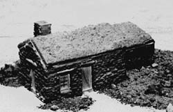 Guts, Gravel & Glory HO Farmer's sod house, LIST PRICE $14.52