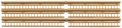 JV Models HO Wood Ladder  Natural Wood, LIST PRICE $8.98