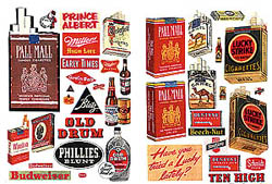 JL Innovative HO Alcohol/Tobacco posters, LIST PRICE $3.99