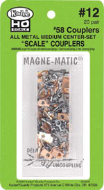 Kadee 20pr pk #58 Scale Metal couplers, LIST PRICE $34.5