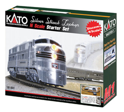 Kato N Zephyr Starter Set CB&Q, LIST PRICE $335