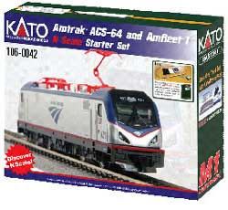 Kato N ACS-64 Amtrak & Amfleet I Starter Set, LIST PRICE $340