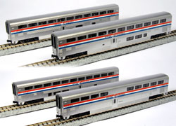 Kato N Superliner Ph3 Amtrak 4 car set A, LIST PRICE $110