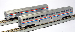 Kato N Step Down Coach & Bag Car Amtrak Ph3, LIST PRICE $55
