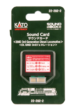 Kato EMD 3rd Gen Diesel Sound Card, LIST PRICE $29.99
