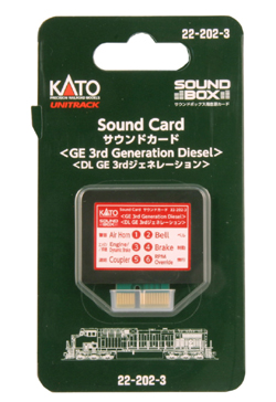 Kato GE 3rd Gen Diesel Sound Card, LIST PRICE $29.99