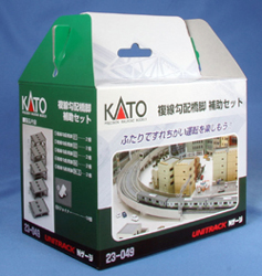 Kato N DOUBLE TRACK INCLINE AUXILIARY PIER SET, LIST PRICE $30
